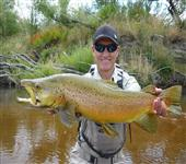 Peter Hart with Brown trout