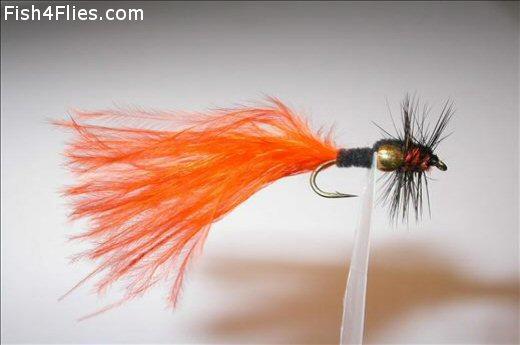Montana Hot Orange Marabou