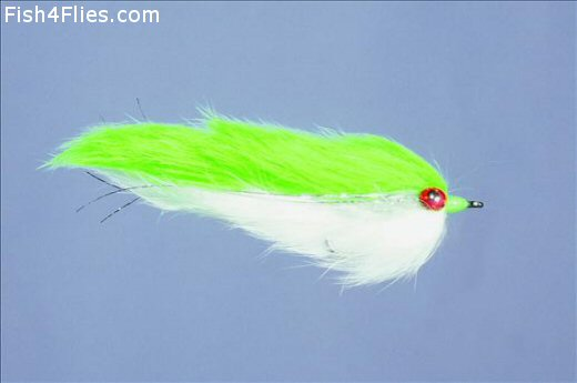 Double Bunny Chartreuse n White