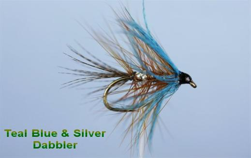 Teal Blue and Silver Dabbler