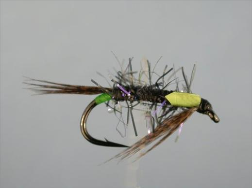 Diawl Bach UV Straggle Black and Green