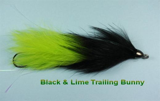 Black n Lime Trailing Bunny