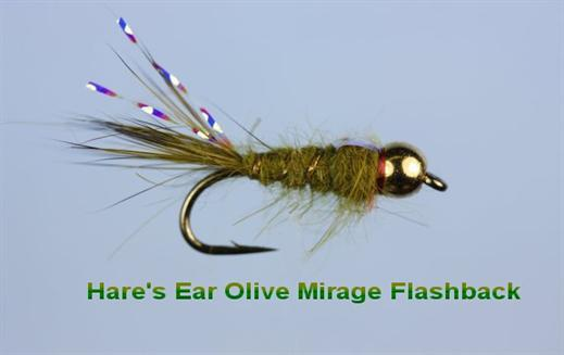 Olive Hares Ear Mirage FB Beaded Nymph