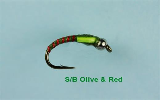 Olive and Red Beaded Buzzer