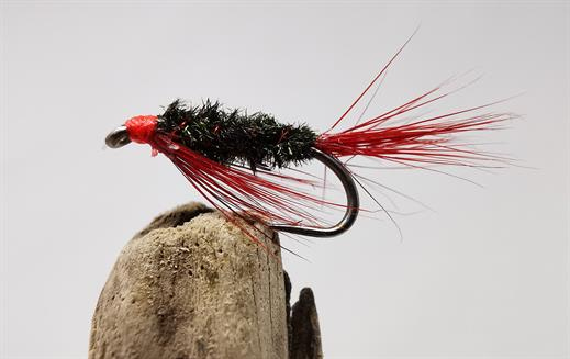 6 red head diawl bachs size12 barbless trout flies