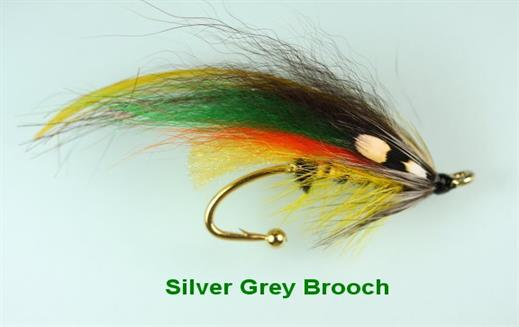 Silver Grey Brooch Pin
