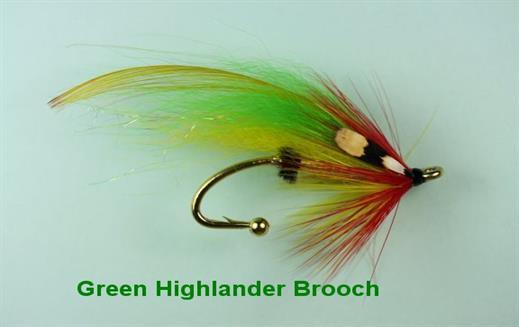 Green Highlander Brooch Pin