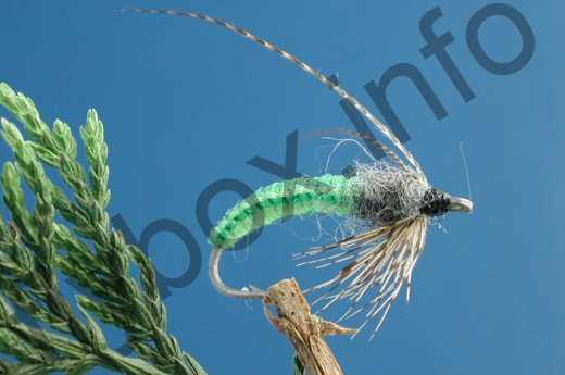 Crocheted Caddis Pupa
