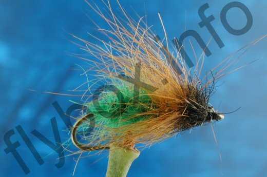Hairy Green Caddis Larva