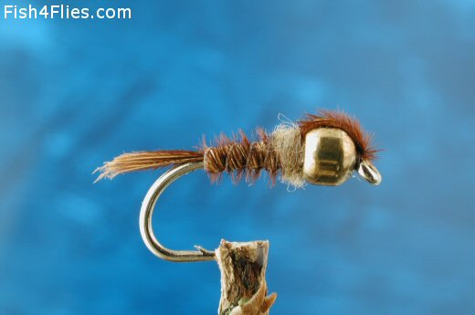 Pheasant Tail Gold Bead