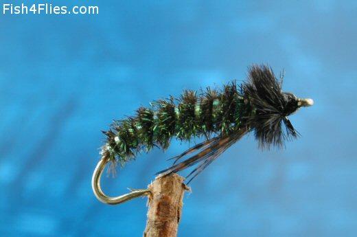 Green Bodied Glo Caddis Larva