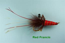 Red Francis Brooch Pin